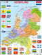 Political Map of The Netherlands/ Nederland- Frame/Board Jigsaw Puzzle 29cm x 37cm (LRS  K53-NL)